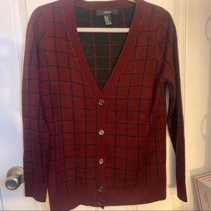 Forever 21 Striped Button Closure Sweater Cardigan